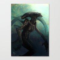 xenomorph Canvas Prints featuring Xenomorph by MATT DEMINO