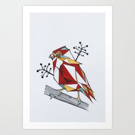 Origami Sparrow Art Print