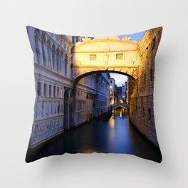 The Bridge of Sighs Throw Pillow