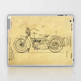 Motorcycle Support Patent Drawing From 1925 Laptop & iPad Skin