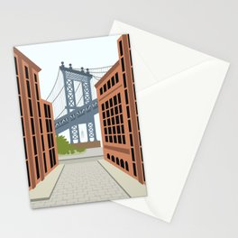 Manhattan Bridge, DUMBO, Downtown Brooklyn, NYC Stationery Cards