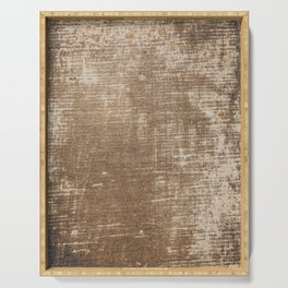 Cement Weathered Brown Abstract Photograph Serving Tray