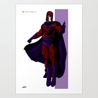 magneto Art Prints featuring Magneto by Andrew Formosa