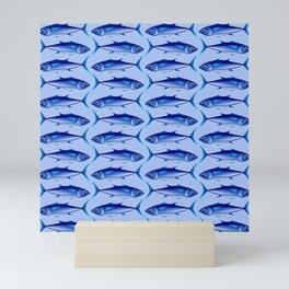 Abstract Tuna Blues Mini Art Print