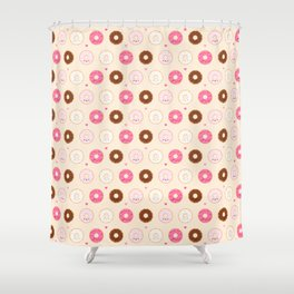 Cute Little Donuts on Cream Shower Curtain
