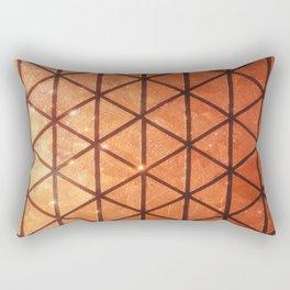 Woven #2 Bronze Rectangular Pillow