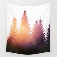 hiking Wall Tapestries featuring Morning Glory by Tordis Kayma