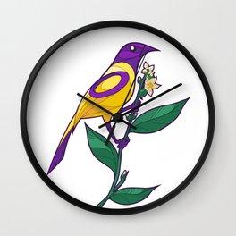 Pride Birds - Intersex Wall Clock