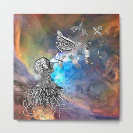 It was an act of love that created the things that control us. Metal Print