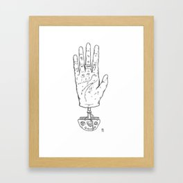 Climber's Hand Pt.1 Framed Art Print