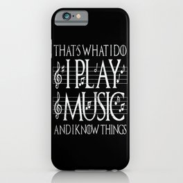 Music Lover Musical Notes Gift Motif iPhone Case