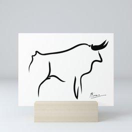 Pablo Picasso Bull 1952 Artwork, Animals Line Sketch, Prints, Posters, Bags, Tshirts, Men, Women, Kids Mini Art Print