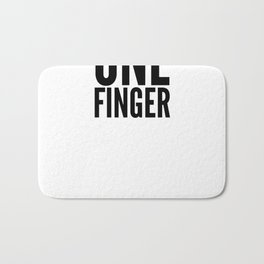 Two Words One Finger Bath Mat