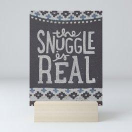 the snuggle is real Mini Art Print