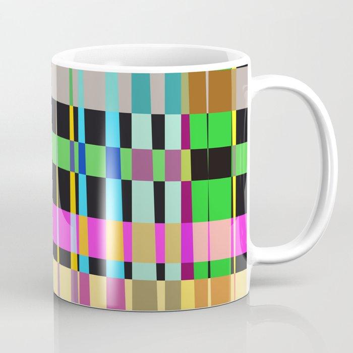 inclined coloured stripes Coffee Mug