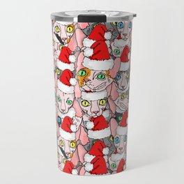 Christmas sphynx (naked cat) Travel Mug