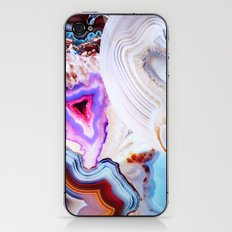 Agate, a vivid Metamorphic rock on Fire iPhone & iPod Skin