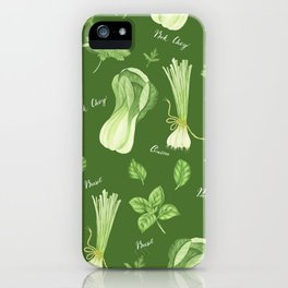 Green vegetables iPhone Case