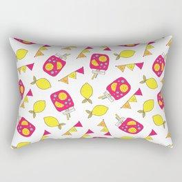 Modern neon pink yellow lemonade summer drink Rectangular Pillow