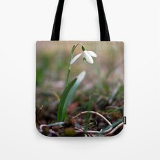 Snowdrop -  Spring Flower Nature Macro Photography Tote Bag