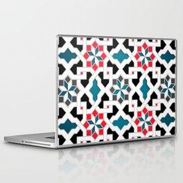 Oriental Pattern - Geometric Design, red / blue / grey Laptop & iPad Skin