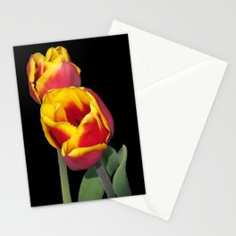 flowers of spring on black -61- Stationery Cards
