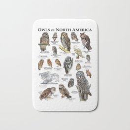 Owls of North America Bath Mat