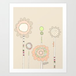 Little Daisies Art Print