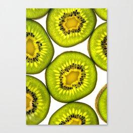 KiwiFruit slices Canvas Print