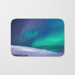 winter sky aurora Bath Mat