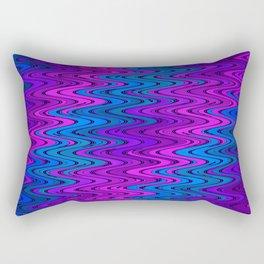 WAVY #2 (Purples, Violets & Turquoises) Rectangular Pillow