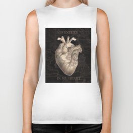 adventure heart-world map Biker Tank