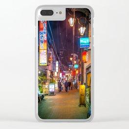 Hozenji Koisan Dori Osaka Street Scene Clear iPhone Case