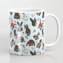 Spring Bunny Rabbits Forest Floral Coffee Mug