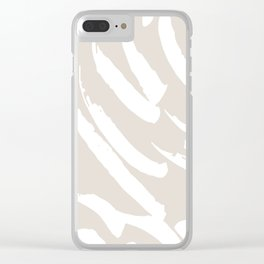 Neutral Brush Strokes Clear iPhone Case