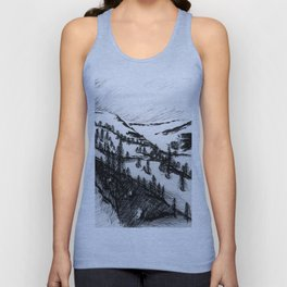 Whister Mountain, Jasper AB Unisex Tank Top