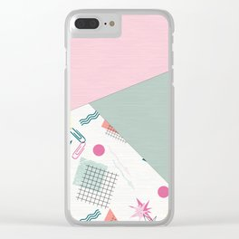 Abstract combined pattern. Clear iPhone Case