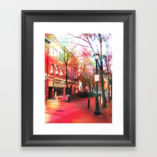 Salem Lights Framed Art Print