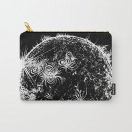 Large Sun Print, black & white solar design by Little Lark Carry-All Pouch
