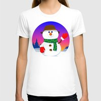 snowman T-shirts featuring SnowMan by tuditees