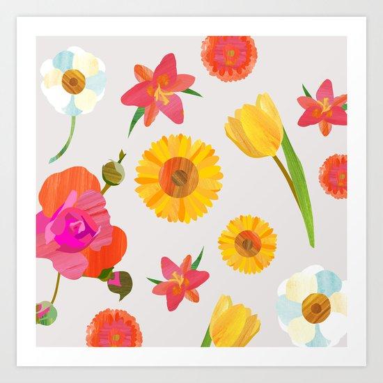 My Favorite Flowers Art Print