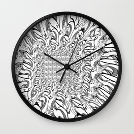 Perspective pattern Wall Clock