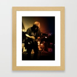 Star Guitar Framed Art Print