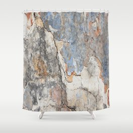 Flaking Weathered Wall rustic decor Shower Curtain