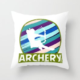 "Grab This Eye-Catching Shirt ""Archery"" Perfectly Made For Archers Hobbyist Hunters T-shirt Design Throw Pillow"