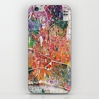 london map iPhone & iPod Skins featuring London map  by mark ashkenazi