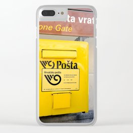 The yellow mailbox Clear iPhone Case