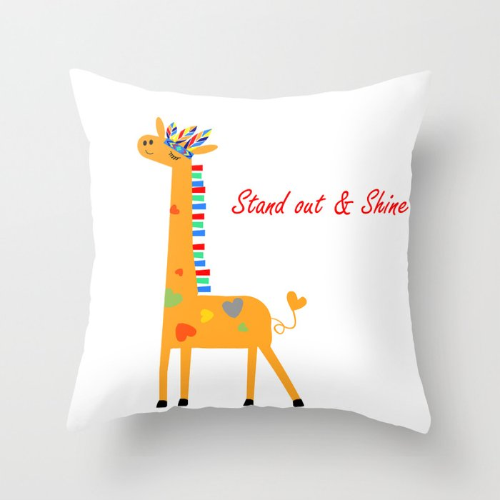 Tribal Giraffe Throw Pillow By Mayl Society6