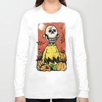 charlie brown Long Sleeve T-shirts featuring Charlie Brown - The Original Pumpkin King by Neil McKinney