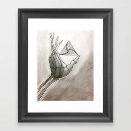 SkeletoHand Framed Art Print